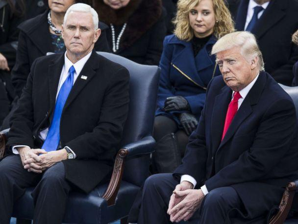 PHOTO: President-elect Donald Trump and Vice President-elect Mike Pence during the 58th U.S. Presidential Inauguration in Washington, D.C.on January 20, 2017. (Samuel Corum/Anadolu Agency via Getty Images)
