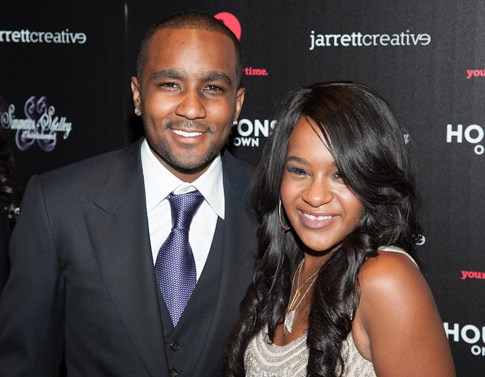 NEW YORK, NY - OCTOBER 22:  Bobbi Kristina Brown and Nick Gordon attends