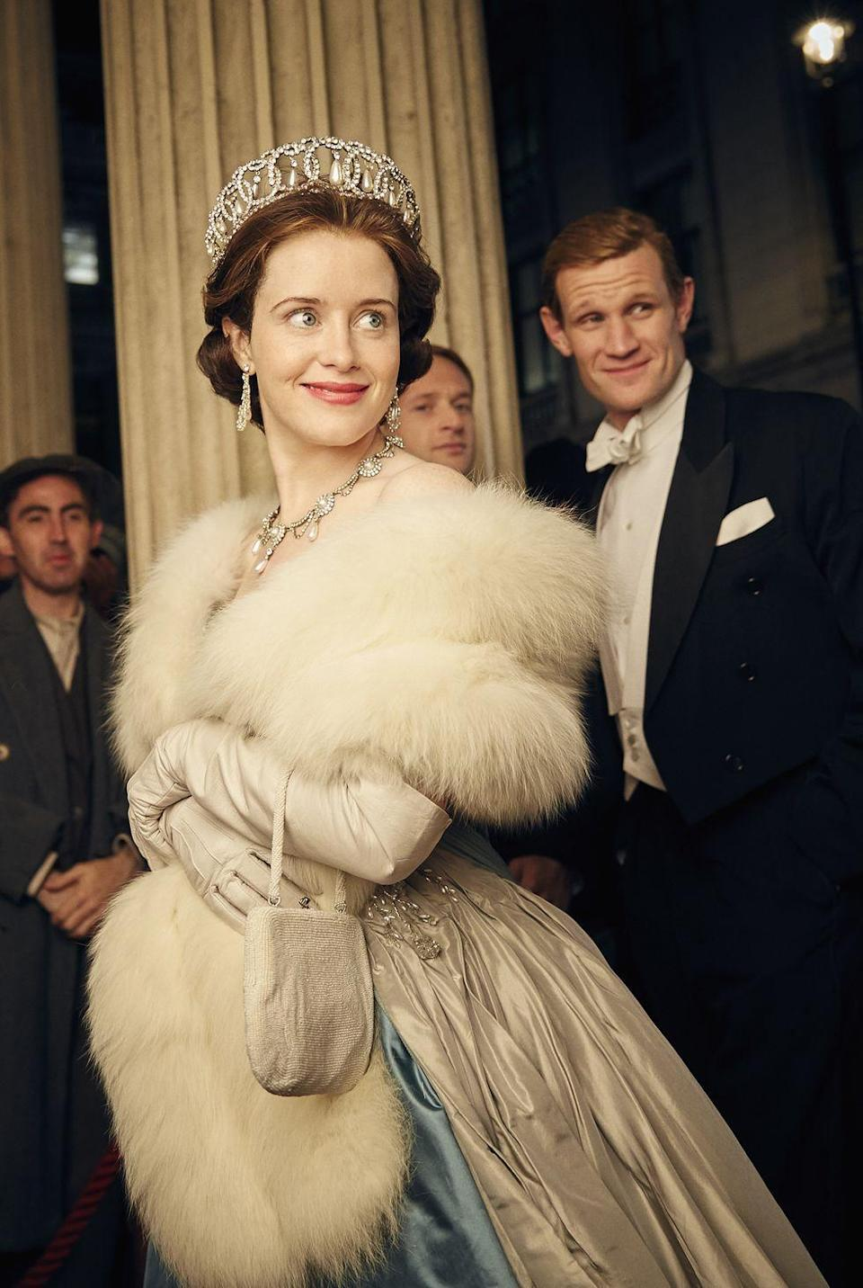 """<p>Foy told <em><a href=""""https://www.vanityfair.com/hollywood/2016/11/the-crown-clair-foy-queen-elizabeth-interview"""" rel=""""nofollow noopener"""" target=""""_blank"""" data-ylk=""""slk:Vanity Fair"""" class=""""link rapid-noclick-resp"""">Vanity Fair</a></em> in 2016 that the notoriously uncomfortable undergarment actually helped her get into her role. """"I'd just had a baby when I started filming, so I had to wear a proper <span class=""""redactor-unlink"""">corset</span> because I was about five dress sizes bigger than I normally am. The corset helps you not slouch. Now we're doing the second series. I'm not wearing it anymore, but it stays with you, that posture, and being a lady.""""</p>"""