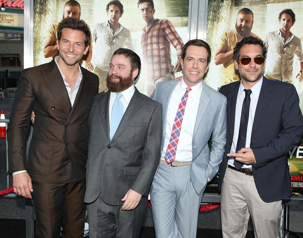 """<a href=""""http://movies.yahoo.com/movie/contributor/1804751131"""">Bradley Cooper</a>, <a href=""""http://movies.yahoo.com/movie/contributor/1805534781"""">Zach Galifianakis</a>, <a href=""""http://movies.yahoo.com/movie/contributor/1809704692"""">Ed Helms</a> and <a href=""""http://movies.yahoo.com/movie/contributor/1800189154"""">Todd Phillips</a> attend the Los Angeles premiere of <a href=""""http://movies.yahoo.com/movie/1810187722/info"""">The Hangover Part II</a> on May 19, 2011."""