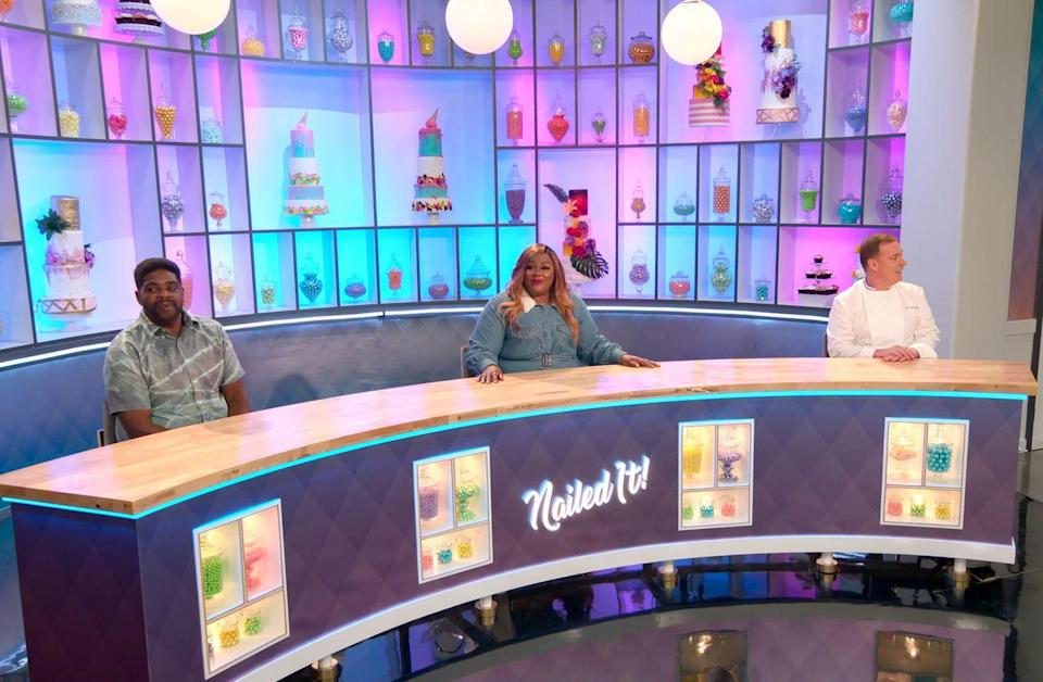 """<p>The contestants on <em>Nailed It </em>aren't trying to be extraordinary—they're just trying to make cakes that don't fall apart. In <em>Nailed It</em>, amateur bakers attempt to form elaborate creations with only a simple recipe for guidance. Kitchen mishaps and playful jabs from host Nicole Byers and judge Jacques Torres ensue. </p><p><a class=""""link rapid-noclick-resp"""" href=""""https://www.netflix.com/watch/80179138?source=35"""" rel=""""nofollow noopener"""" target=""""_blank"""" data-ylk=""""slk:Watch Now"""">Watch Now</a></p>"""