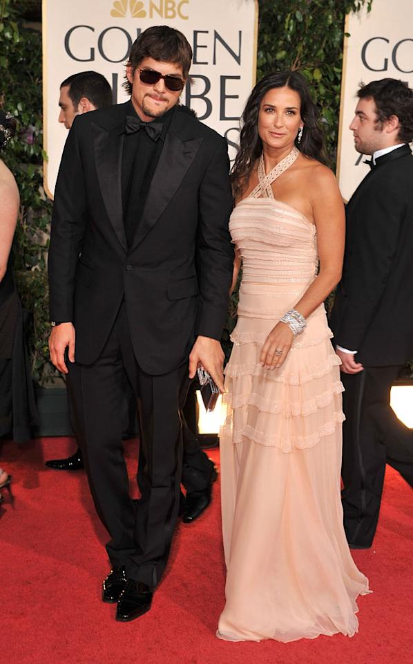 """Ashton Kutcher and Demi Moore at the 66th Annual Golden Globe Awards in Beverly Hills. Steve Granitz/<a href=""""http://www.wireimage.com"""" target=""""new"""">WireImage.com</a> - January 11, 2009"""