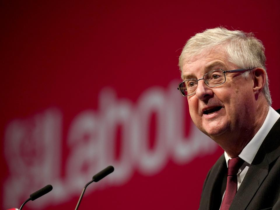 Drakeford spoke at the Labour Party conference in Brighton on Monday (PA)