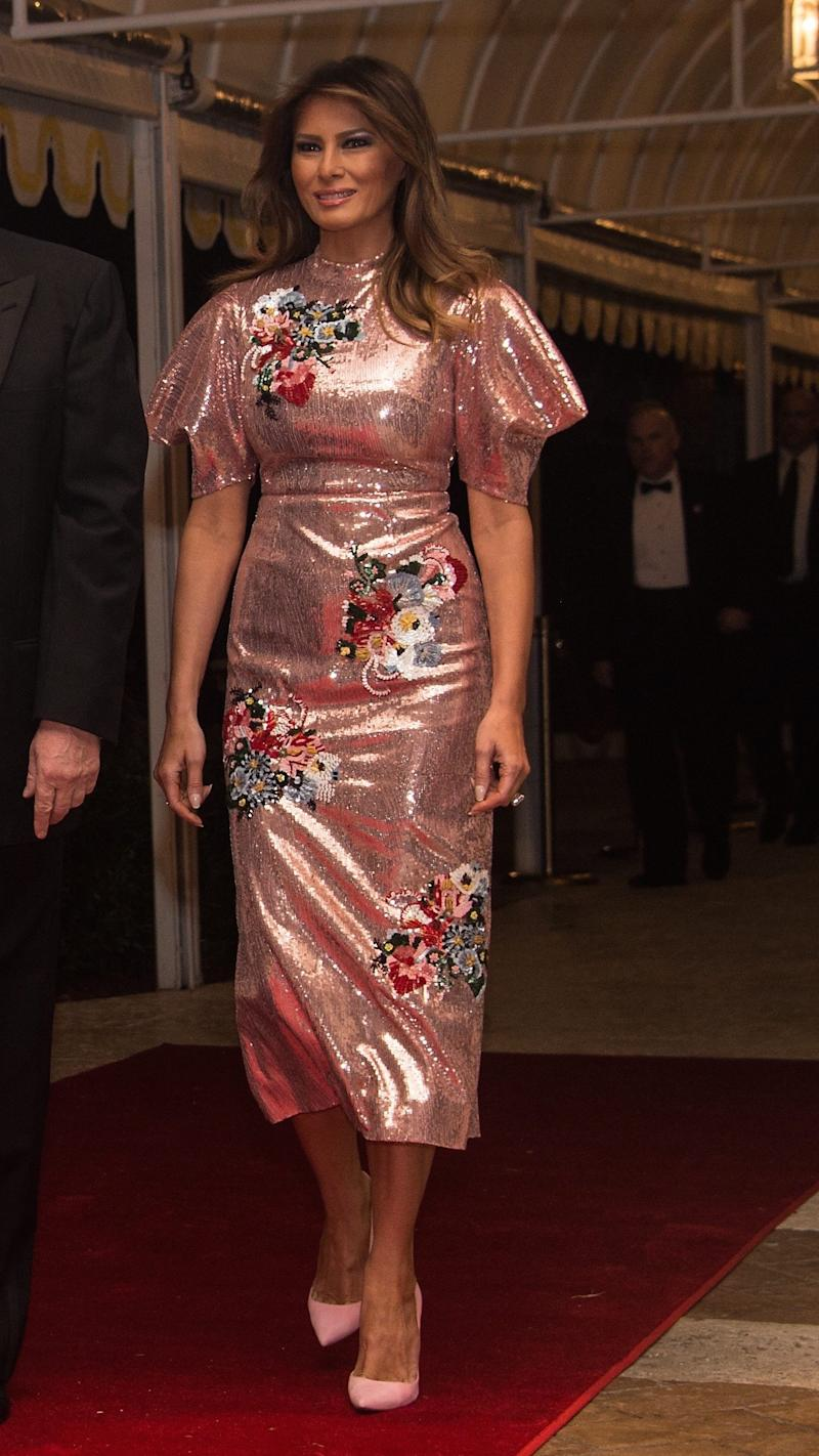 Melania Trump Wears Erdem to Celebrate the New Year