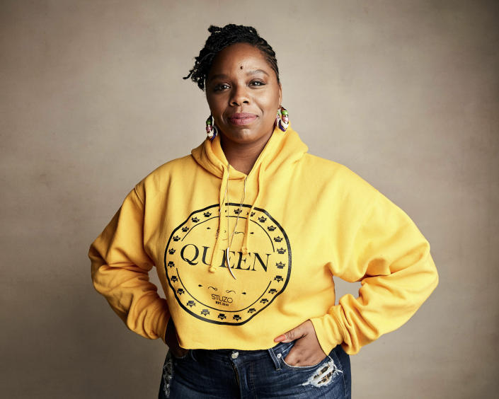 FILE - In this Jan. 27, 2019, file photo, Patrisse Cullors poses for a portrait to promote a film during the Sundance Film Festival in Park City, Utah. Cullors, a co-founder of Black Lives Matter, announced Thursday, May 27, 2021, that she is stepping down as executive director of the foundation. (Photo by Taylor Jewell/Invision/AP, File)