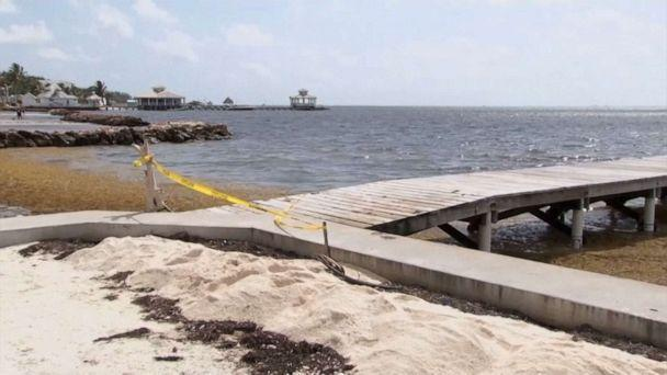 PHOTO: The pier where the body of police Superintendent Henry Jemmott was found in Belize, May 28, 2021. (7 News Belize)