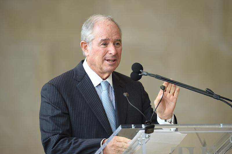 NEW YORK, NY - MAY 07: Chairman and CEO and Founder of Blackstone Stephen A. Schwarzman speaks during 'Heavenly Bodies: Fashion & The Catholic Imagination' Costume Institute Gala Press Preview at The Metropolitan Museum of Art on May 7, 2018 in New York City. (Photo by Gary Gershoff/WireImage)