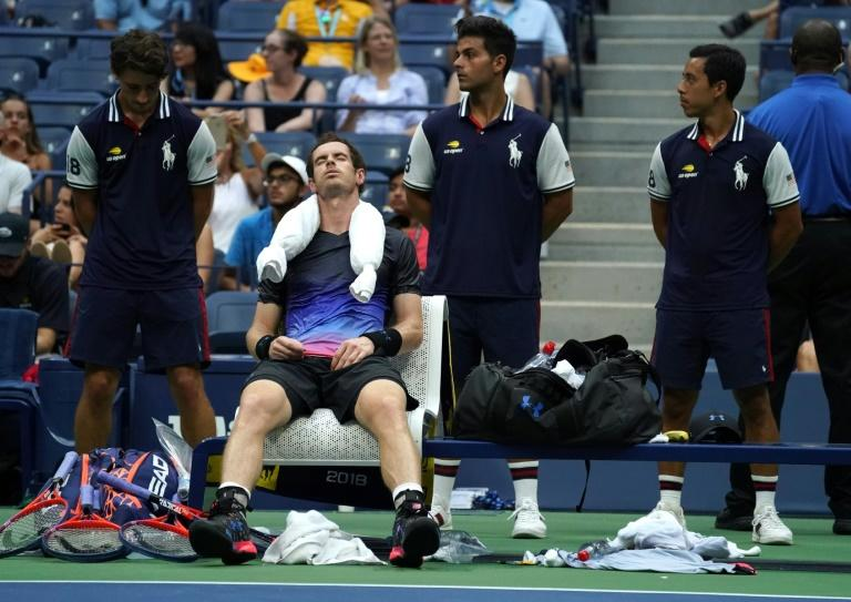 Extreme heat: Andy Murray cools off during US Open loss to Fernando Verdasco