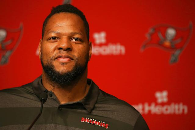 Ndamukong Suh wants people to get to know him first before they pass judgement — instead of just looking at clips of his turbulent past in the NFL. (Getty Images)