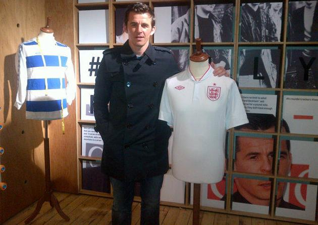Joey Barton poses with a jersey he won't get to wear