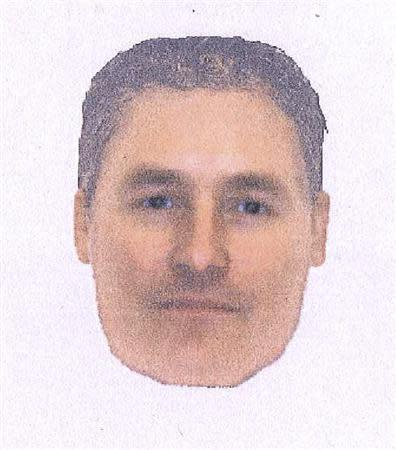 An e-fit image released by the Metropolitan Police on October 14, 2013 of a man they want to identify and trace in connection with their investigation into the disappearance of Madeleine McCann. REUTERS/Metropolitan Police/Handout