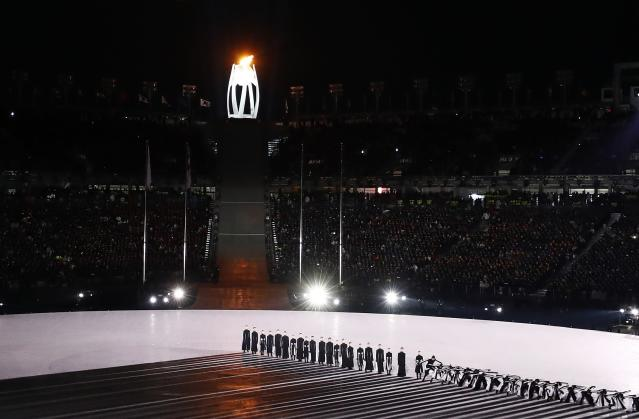 <p>A general view during the closing ceremony. REUTERS/Pawel Kopczynski </p>