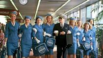 <p> Steven Spielberg's Catch Me if You Can is the true story of light-footed Frank Abagnale Jr., an 18-year-old who successfully conned the state out of millions of dollars by posing under different identities. At the time, a fresh faced Leonardo DiCaprio was carving out a reputable career in Hollywood. The actor's charming performance as Abagnale is perfectly matched by Tom Hanks portrayal of dogged FBI agent Carl Hanratty. </p>