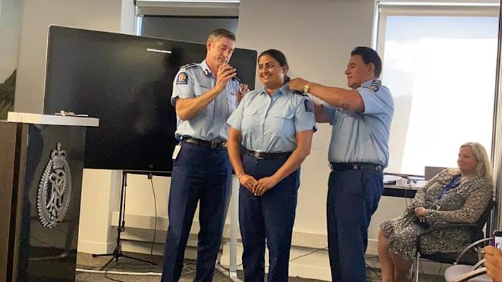 New Zealand's first Indian-born female police officer Mandeep Kaur scripted history by achieving the rank of senior sergeant last month.