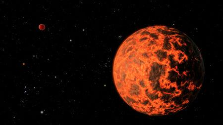 FILE PHOTO: An alien world just two-thirds the size of Earth - one of the smallest on record - detected by NASA's Spitzer Space Telescope is seen in this NASA artist's illustration