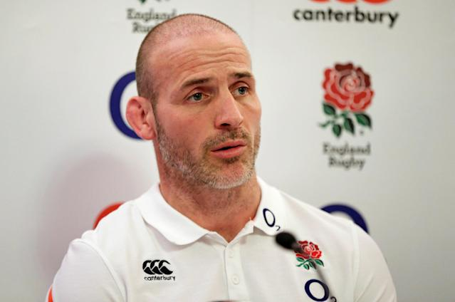 FILE PHOTO: Britain Rugby Union - England Press Conference - Pennyhill Park, Bagshot, Surrey - 2/2/17 England coach Paul Gustard during the press conference Action Images via Reuters / Henry Browne Livepic EDITORIAL USE ONLY. - 14744902/File Photo
