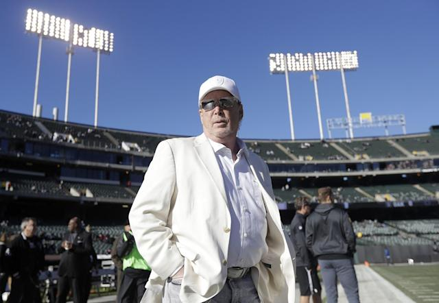 Raiders owner Mark Davis has to wonder how fans will support the team the next few seasons. (AP)
