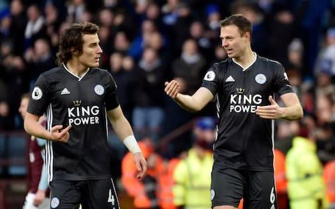 <span>Jonny Evans (right) and Caglar Soyuncu (left) have developed into one of the best centre-back pairings in the Premier League</span> <span>Credit: ap </span>