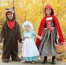 """<p>We love how story time has turned into costume time for these three little kids. Each plays a major role — Granny, Little Red and the Big Bad Wolf — and Red's picnic basket is the perfect place to store scores of candy.</p><p><em><a href=""""http://www.makeit-loveit.com/2012/10/the-whole-red-riding-hood-crew.html"""" rel=""""nofollow noopener"""" target=""""_blank"""" data-ylk=""""slk:See more at Make It & Love It »"""" class=""""link rapid-noclick-resp"""">See more at Make It & Love It »</a></em></p>"""