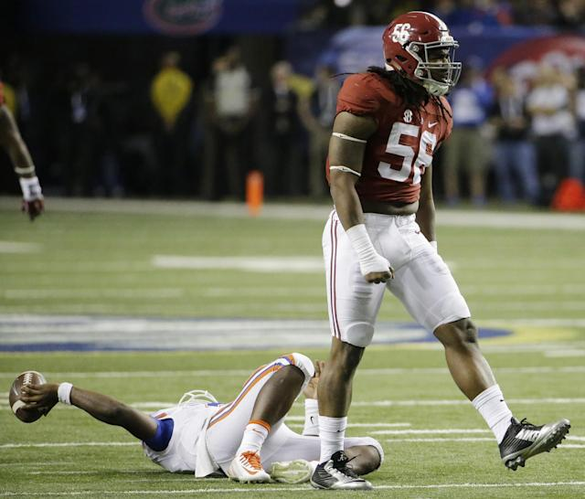 Alabama pass rusher Tim Williams admitted that he failed multiple drug tests while in school. (AP)