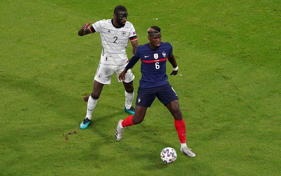 Rudiger and Pogba have both brushed over the incident - GETTY IMAGES