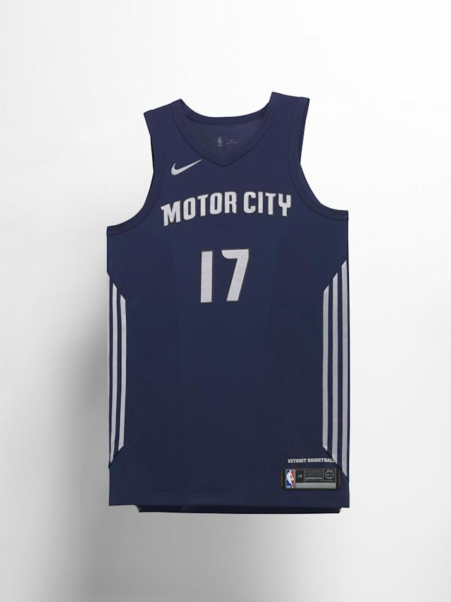 Detroit Pistons City uniform. (Nike)