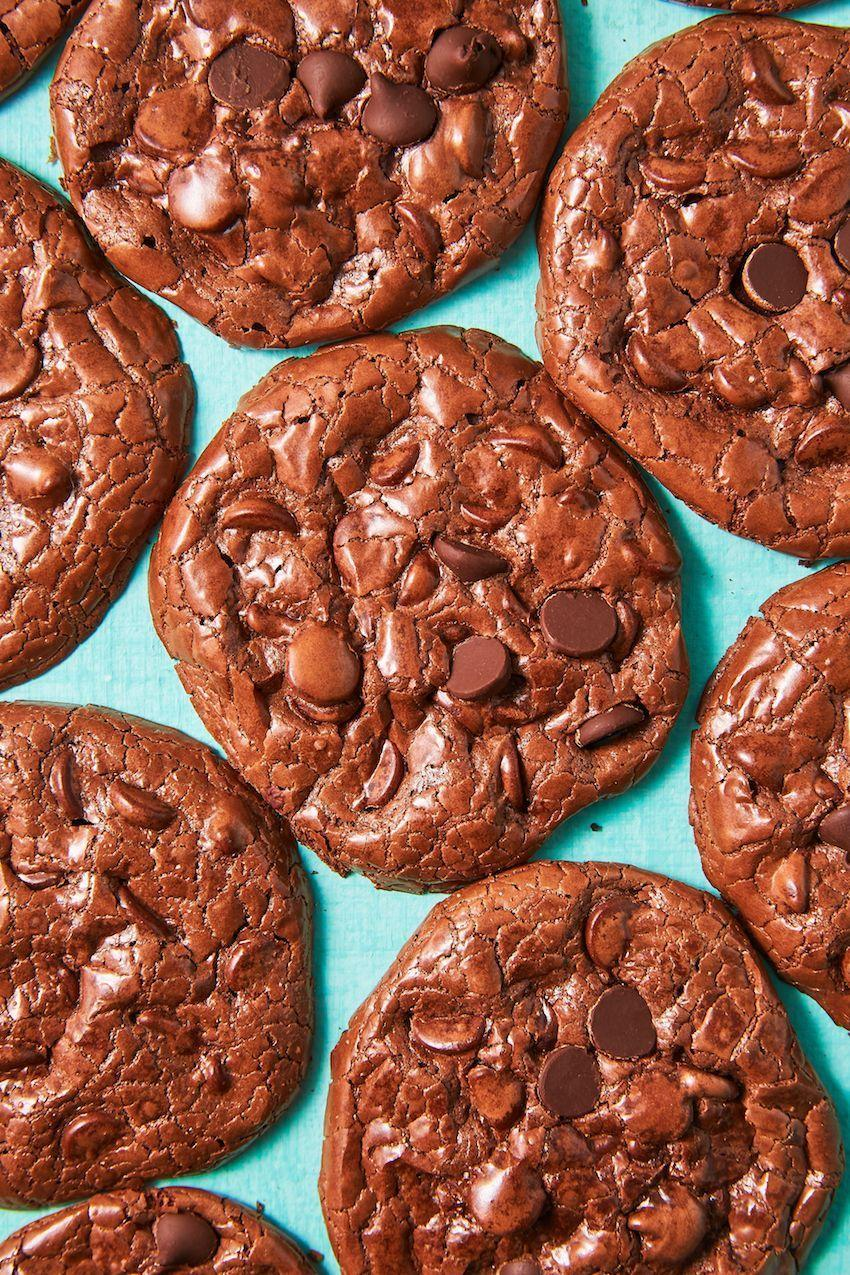 "<p>Fudgey on the inside, crispy on the outside, and full of chocolate-chip goodness, these delectable chocolate cookies will be hard to put down. </p><p><strong><em>Get the recipe at <a href=""https://www.delish.com/cooking/recipe-ideas/a19573617/flourless-fudge-cookies-recipe/"" rel=""nofollow noopener"" target=""_blank"" data-ylk=""slk:Delish"" class=""link rapid-noclick-resp"">Delish</a>.</em></strong></p>"