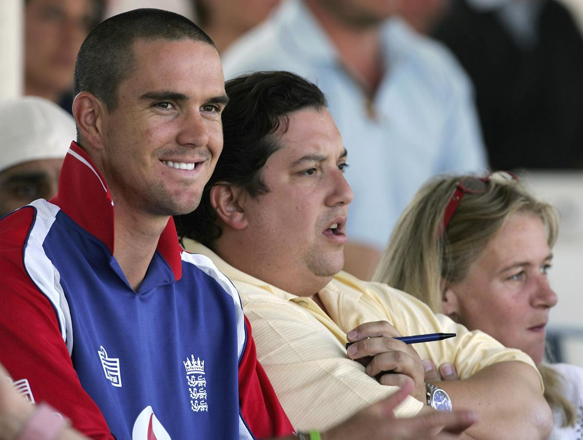 Kevin Pietersen of England watches from a public stand as England continue to bat during day two of the third npower Test Match between England and Sri Lanka at Trent Bridge on June 3, 2006 in Nottingham, England.  (Photo by Paul Gilham/Getty Images)