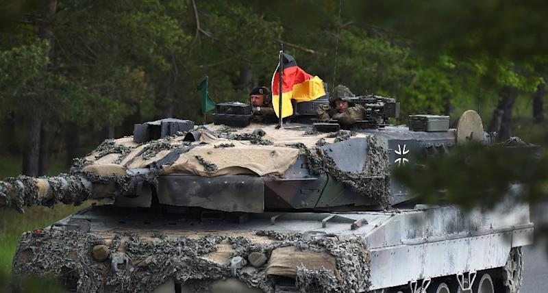 Germany, Europe's economic powerhouse, lags on just 1.24 percent of the two percent defence spending target - and has come in for withering criticism from President Donald Trump (AFP Photo/Christof STACHE)