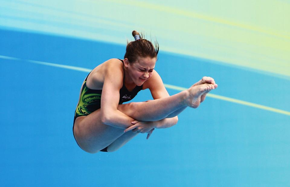 Brittany Broben, 15, of Australia competes in the Women's 1m Springboard Final during Day Four of the 14th FINA World Championships at the Oriental Sports Center on July 19, 2011 in Shanghai, China. (Feng Li/Getty Images)
