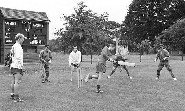 Nobby Stiles and some members of the England 1966 World Cup squad took a break to play a sport of a different kind during the tournament