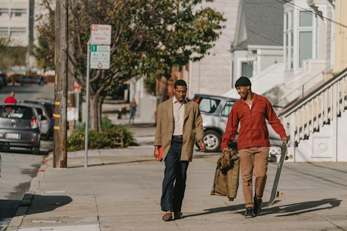 """<h1 class=""""title"""">The Last Black Man in San Francisco is a 2019 American drama film directed and produced by Joe Talbot based on a story by Jimmie Fails and Talbot (which, in turn, is partly based on Fails' own life. It stars Fails, Jonathan Majors, Danny Glover, Tichina A</h1> <div class=""""caption""""> Written by Joe Talbot and Jimmie Falls, directed by the former and starring the latter, <em>The Last Black Man in San Francisco</em> features plenty of gorgeous shots of the Victorian architecture of the rapidly changing city. </div> <cite class=""""credit"""">Photo: Lifestyle pictures / Alamy Stock Photo</cite>"""