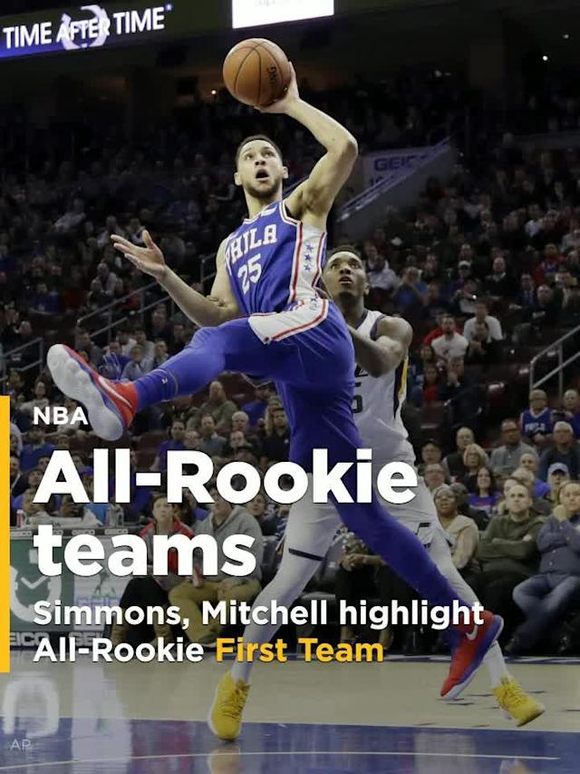 Ben Simmons, Donovan Mitchell highlight All-Rookie First Team.