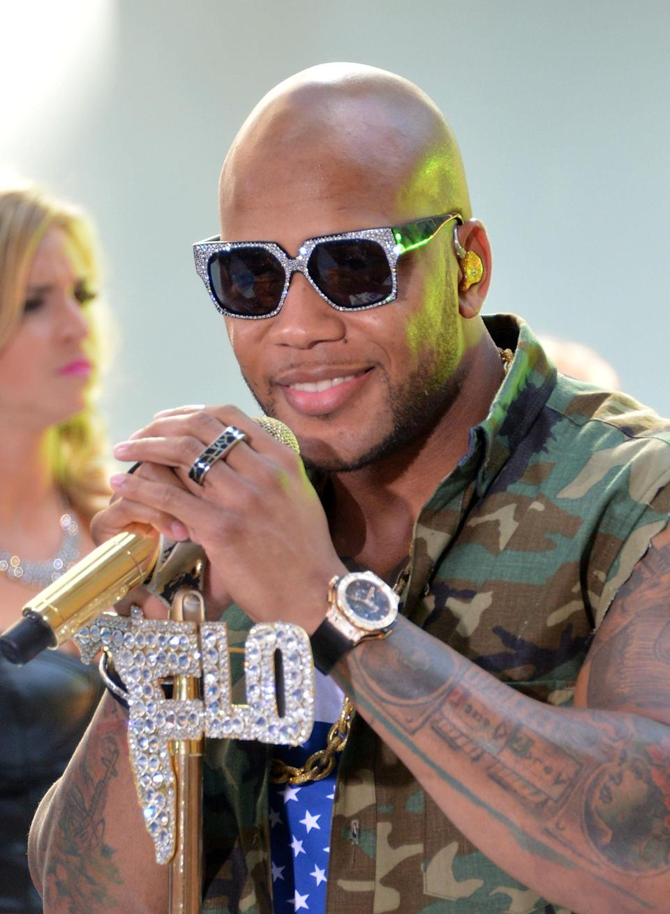 "<b>Flo Rida:</b> ""Prayers for the people of Aurora, CO during this extremely difficult time. People everywhere show your loved ones LOVE everyday!"" (Photo by Mike Coppola/Getty Images)"