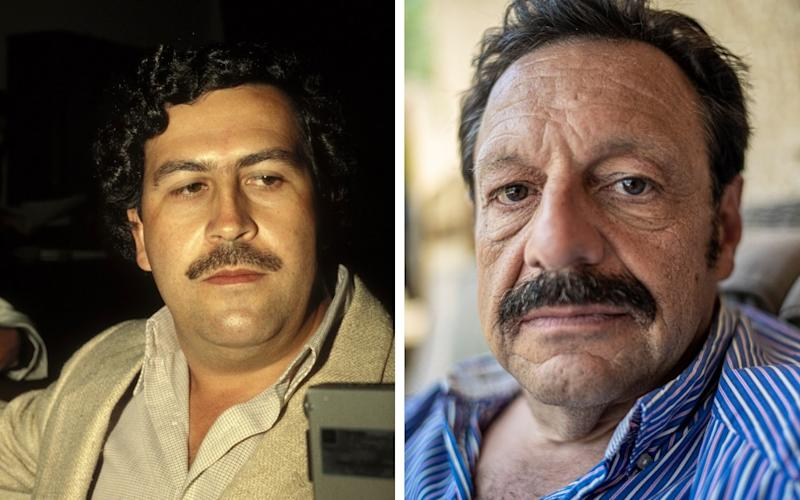 Pablo Escobar an his son Roberto - Getty/ Bruno Daureo