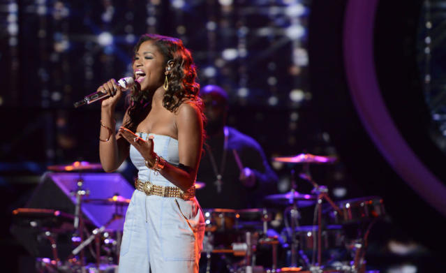 "Amber Holcomb performs ""I Say a Little Prayer"" on the Wednesday, April 10 episode of ""American Idol."""