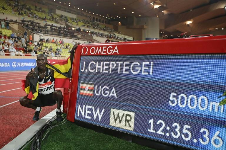 Cheptegei sets world record, Lyles' raised fist protest as athletics returns in Monaco