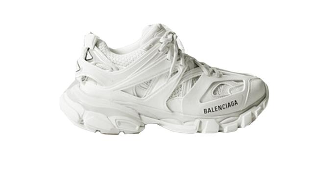 Balenciaga track logo-detailed mesh and rubber sneakers
