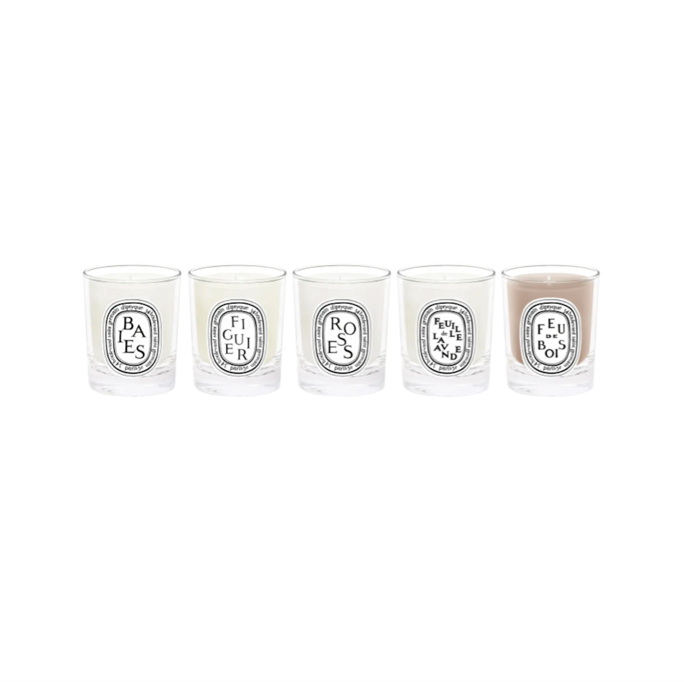 """<h2>Diptyque Travel Size Scented Candle Set 27% Off</h2><br>""""Sure, Boy Smells may be the more popular competitor here but, at the end of The Nordstrom Anniversary Sale day, I'm just a classic Diptyque girl — and these things are expensive. So, you better believe I'm gonna scoop up a travel-sized set of five at an exclusive value price! It's truly hard to beat the quality of scent you get from this brand AND, even when they do burn out, the glass votives can be repurposed as chic lil' change collectors or jewelry dishes."""" <em>– Elizabeth Buxton, Deputy Director</em><br><br><strong><em>Next Best Deal:</em></strong><em> Since Diptyque Travel Size Scented Candle Set is sold out, try this still-in-stock <a href=""""https://www.nordstrom.com/s/apotheke-4-wick-concrete-scented-72-ounce-candle/5915594"""" rel=""""nofollow noopener"""" target=""""_blank"""" data-ylk=""""slk:Apotheke 4-Wick Concrete Scented 72-Ounce Candle"""" class=""""link rapid-noclick-resp"""">Apotheke 4-Wick Concrete Scented 72-Ounce Candle</a> instead!</em><br><br><em>Shop <strong><a href=""""https://www.nordstrom.com/brands/diptyque--7732"""" rel=""""nofollow noopener"""" target=""""_blank"""" data-ylk=""""slk:Diptyque"""" class=""""link rapid-noclick-resp"""">Diptyque</a></strong></em><br><br><strong>Diptyque</strong> Travel Size Scented Candle Set, $, available at <a href=""""https://go.skimresources.com/?id=30283X879131&url=https%3A%2F%2Fwww.nordstrom.com%2Fs%2Fdiptyque-travel-size-scented-candle-set-82-value%2F5894239"""" rel=""""nofollow noopener"""" target=""""_blank"""" data-ylk=""""slk:Nordstrom"""" class=""""link rapid-noclick-resp"""">Nordstrom</a>"""