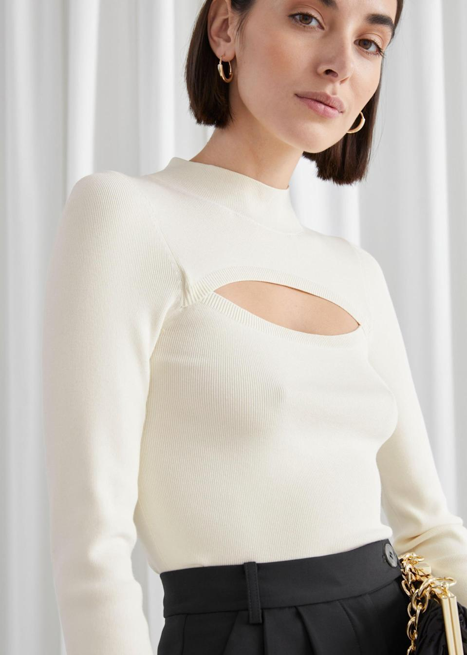 <p>This <span>Fitted Cut Out Crop Top</span> ($59) is great for an evening date.</p>