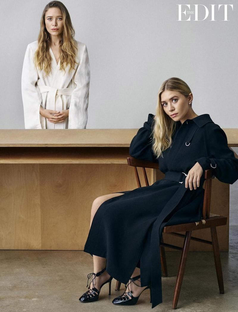 Ashley and Mary-Kate wear clothes by Elizabeth and James SS17 and shoes by The Row (Michael Schwartz for The Edit, net-a-porter.com)