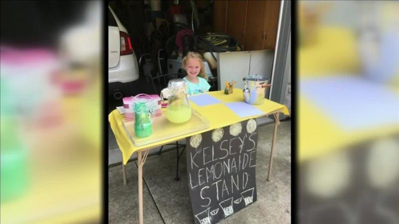Kelsey, 7, was able to raise over $400 to help rescue girls from human trafficking around the world. (Photo: WPTA)