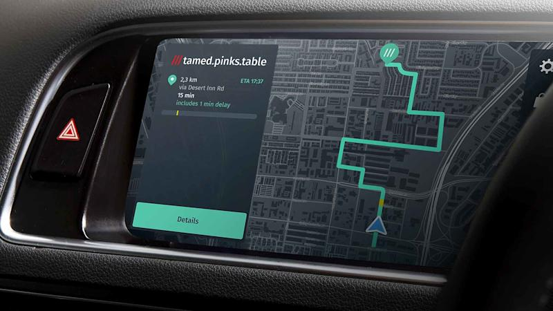 What3words navigation 'coming to 4 in 5 new cars'