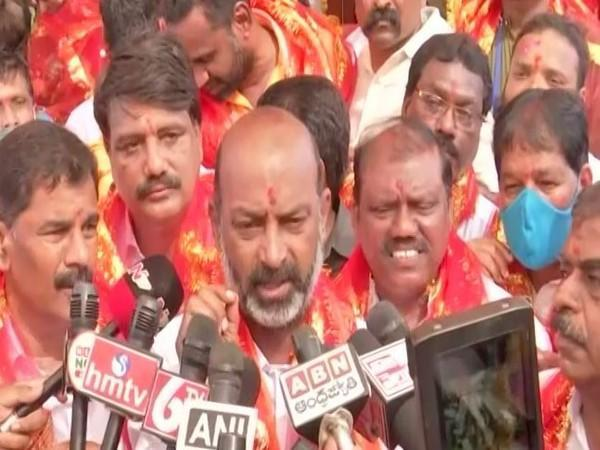 BJP leader and party workers visited Bhagya Lakshmi temple in Hyderabad