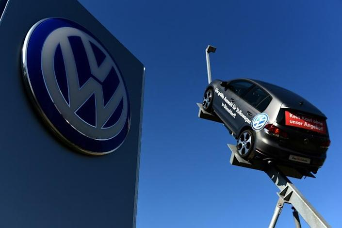 Volkswagen admitted in 2015 to installing software designed to reduce emissions during lab tests in 11 million diesel engines worldwide (AFP Photo/Patrik STOLLARZ)