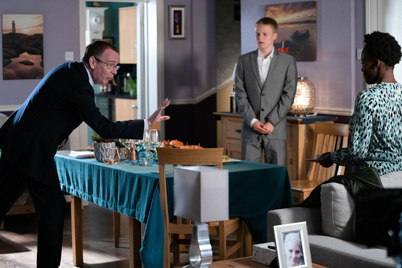 <p>Needing the cash, he tries to show off his hospitality skills.</p>