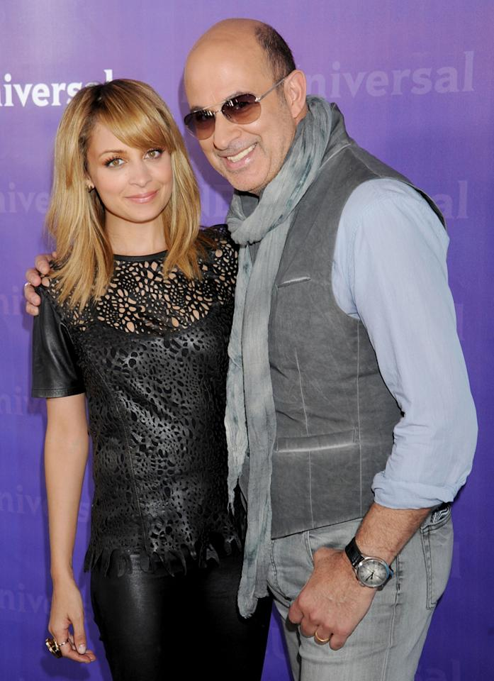 "Nicole Richie and John Varvatos (""<a href=""http://tv.yahoo.com/fashion-star/show/47285"">Fashion Star</a>"") arrive at NBC Universal's 2012 Summer Press Day at The Langham  Huntington Hotel and Spa on April 18, 2012 in Pasadena, California."