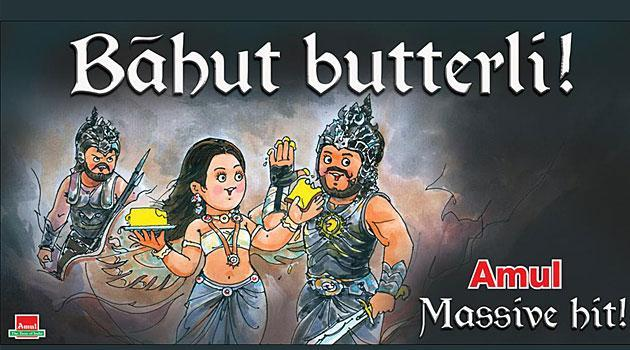 <p>The world was floored as Bahubaali flexed his muscles, the brand was fast to hop on the situation and announce that it was Amul's butter that blessed the Indian hero with all that might and courage. </p>