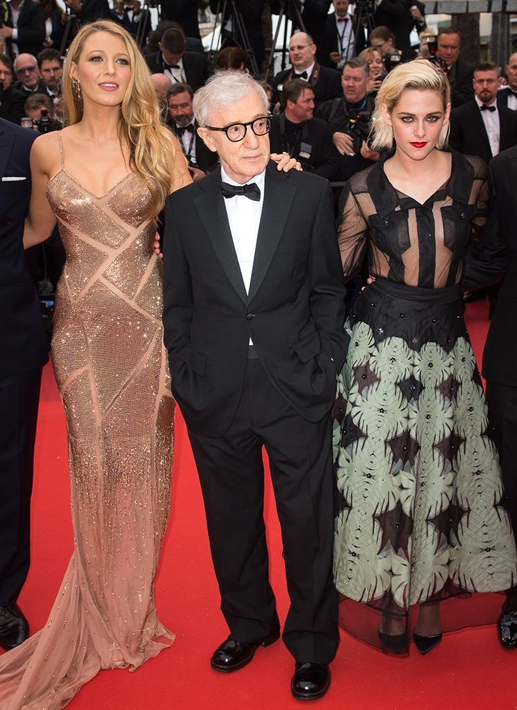 <p>Lively appears at the Cannes Film Festival with director Woody Allen and co-star Kristen Stewart for the premiere of their film <i>Café Society </i>on May 11, 2016. <i>(Photo: Samir Hussein/WireImage)</i></p>