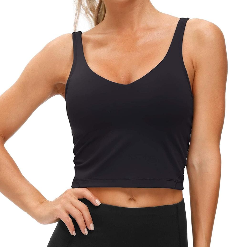 <p>The <span>Women's Longline Sports Bra Wirefree Padded Medium Support</span> ($23) can be worn all day whether your running errands, lifting weights, or going for a walk. It's a stylish timeless long line bra that doubles as a workout top. </p>